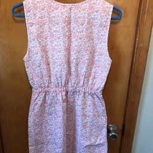 J. Crew Peach Floral Dress with Pockets. Size 2